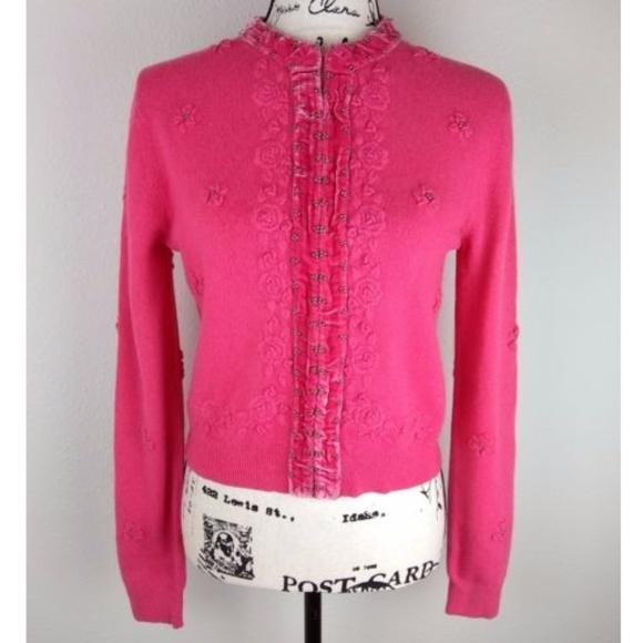 Cabi Sweaters Medium Hot Pink Cardigan Sweater Poshmark